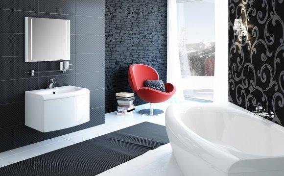 Дизайн большой ванной комнаты