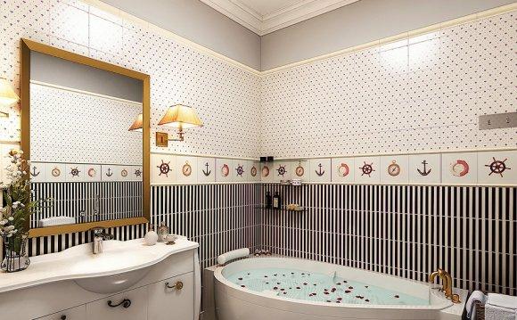 Маленькая ванная комната с