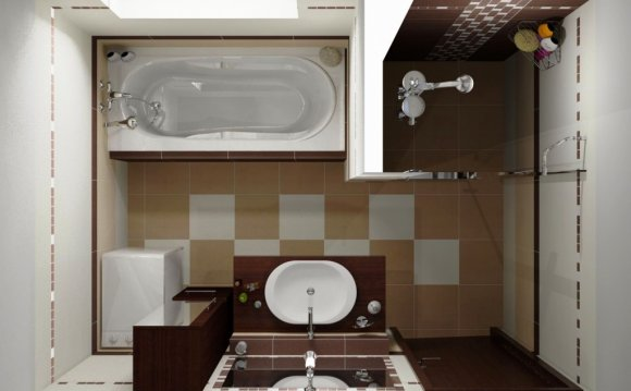 Дизайн ванной комнаты 4 кв. м
