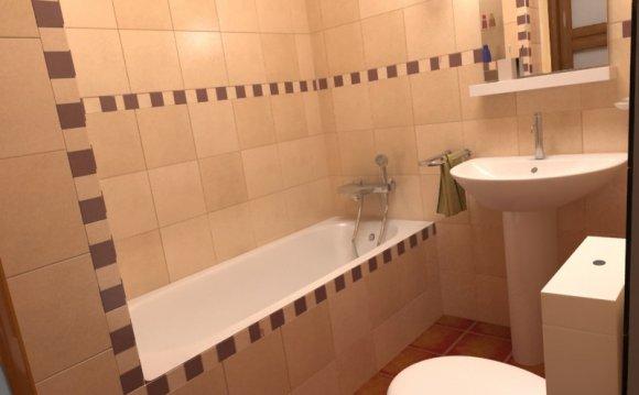 Отделка ванной в серо-белых