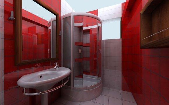 маленькой ванной комнаты /