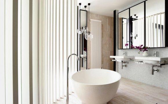Фигурная плитка в ванной