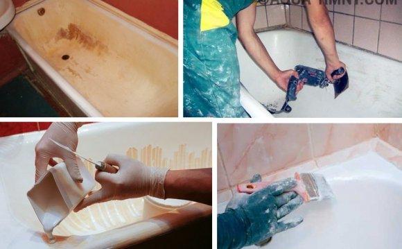 Подготовка ванны к покраске
