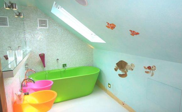 Стены для ванной для детей