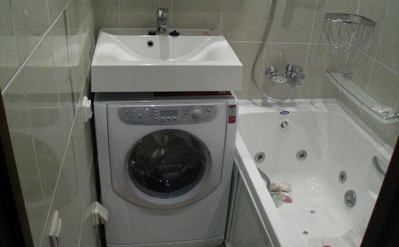 ванная комната со стиральной